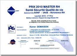 Prix master RH